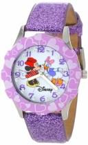 """ディズニー 腕時計 キッズ 時計 子供用 ミニー デイジーダック Disney Kids' W000916 """"Tween Minnie Glitz"""" Stainless Steel Watch wit.."""
