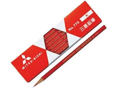 ◆三菱赤鉛筆(朱通し六角) 1ダース 【楽ギフ_名入れ】 【02P03Dec16】