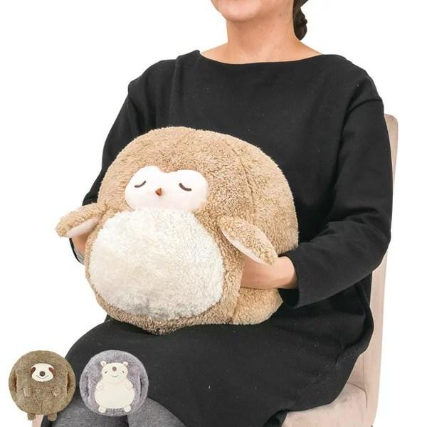 クッション ぬいぐるみ フラッフィーアニマルズ コロコロハンドマフ ( 抱き枕 抱きまくら 動物 アニマル 腕枕 腕まく