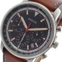 【ポイント2倍】(〜6/30) フォッシル FOSSIL 腕時計 FS5414 クォーツ ネイビー ブラウン メンズ