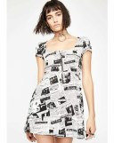CURRENT MOOD 【 READ ALL ABOUT IT NEWSPRINT DRESS 】 レディースファッション ワンピース 送料無料