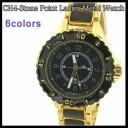 時計 腕時計 CH4 ストンポイント レディース メタル ウォッチ CH4-Stone Point Ladies Metal Watch 全6色 送料無料