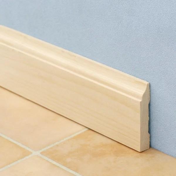 モールディング[ベースボード(巾木) H625ベイツガ 無塗装 10.1mm×57.1mm×長さ約3.6m(1本単位で発売)]