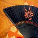 松竹歌舞伎屋本舗歌舞伎扇子 黒歌舞伎 KABUKI 和 柄 伝統 文化 せんす 扇子