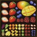 シール 苺 マンゴー 果物 装飾 デコレーションシール チョークアート 窓ガラス 黒板 看板 POP ステッカー 用