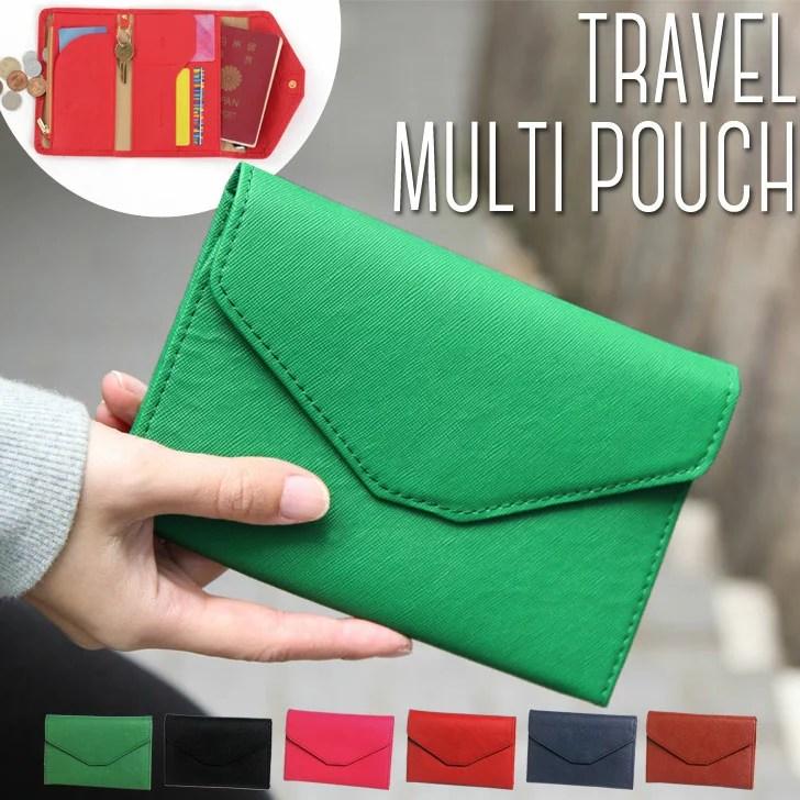 トラベルポーチ ミニマルチポーチ パスポート ケース レディース メンズ ポーチ 小物入れ バッグインバッグ 旅行 貴重品 ユニセックス カードケース 薄型