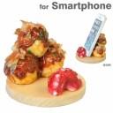 スマートフォン対応 食品サンプルスタンド(たこ焼き) 【スマホ スタンド iphone 携帯 スマホ ホルダー スマホスタンド iphone5c iphone5s iphone5 スタンド ケータイ 】