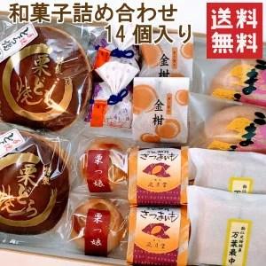 【送料無料ポイント10倍】和菓子詰め合わせ14個入り(お試しセット)※本州・四国へのお届けは送料無料
