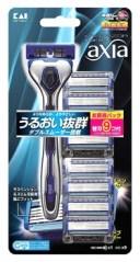 貝印 カイレザー アクシア バリューパック スリム (本体+替刃9ヶ付) KAIRAZOR axia カミソリ 髭剃り 5枚刃