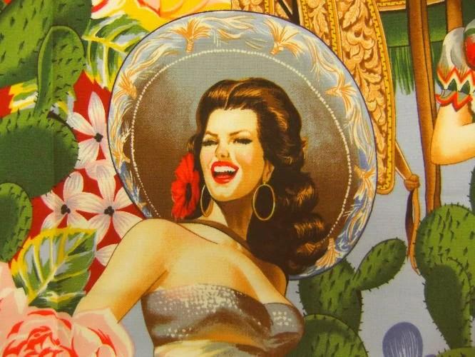 生地 布 輸入 USAコットン Las Señoritas セニョリータ 6542A