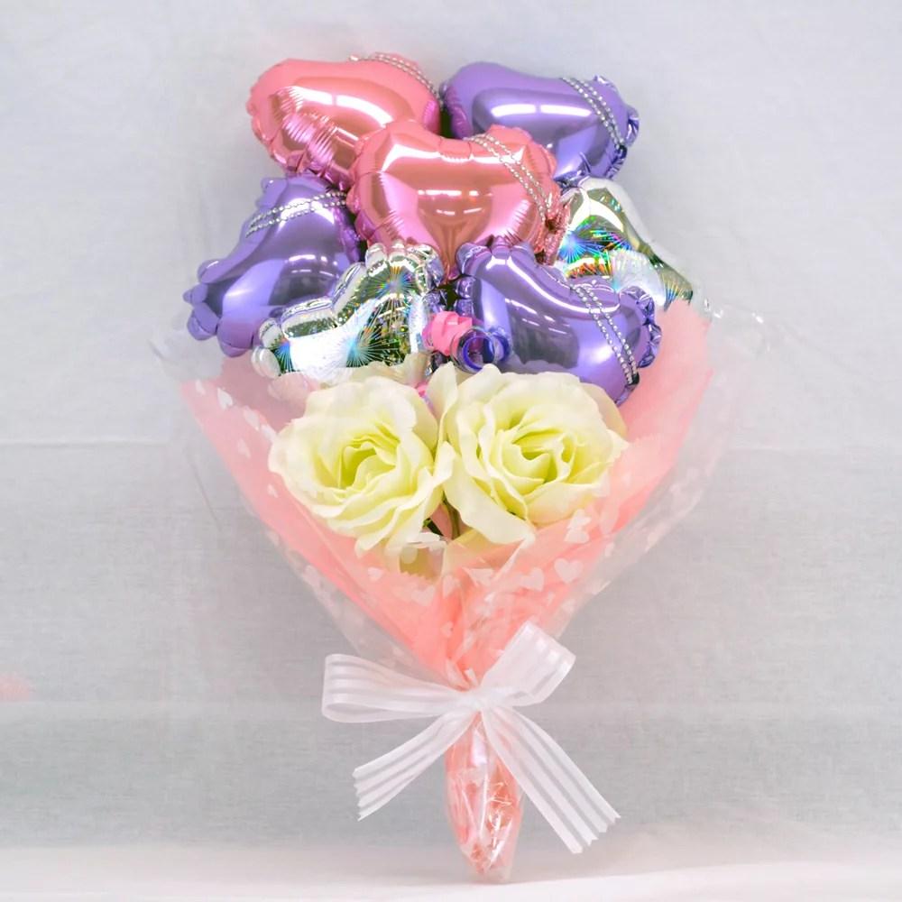 バルーンブーケ ピンク & パープル プレゼント バースデー バルーン サプライズ ギフト パーティー Birthday Balloon Party 風船 誕生日 誕生会 お祝い 記念日