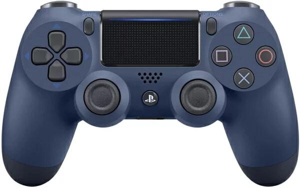 【即納可能】【新品】【PS4】ワイヤレスコントローラー(DUALSHOCK4)ミッドナイト・ブルー★