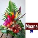 """ハワイアンバスケットフラワーアレンジ Hawaiian Basket Flower """"Moana""""L"""
