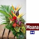 """ハワイアンバスケットフラワーアレンジ Hawaiian Basket Flower """"Moana""""M"""