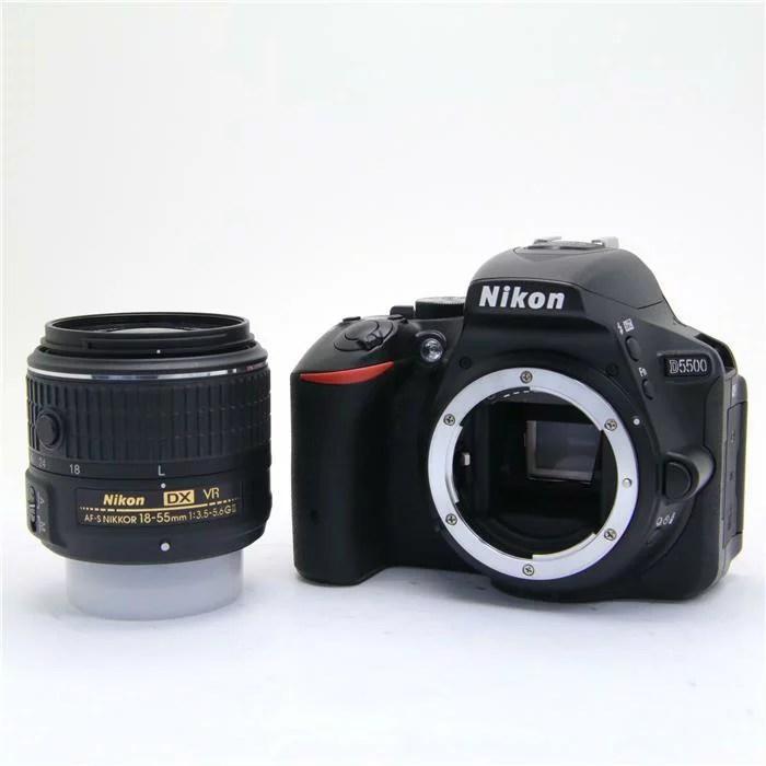 【あす楽】 【中古】 《良品》 Nikon D5500 18-55 VR II レンズキット ブラッ