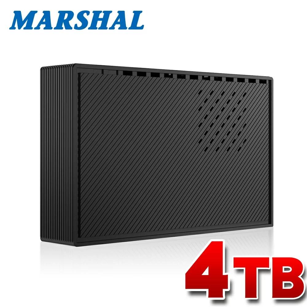 【エントリーで5倍以上!2/24 23:59迄】外付けハードディスク 4TB テレビ 各社対応 レグザ アクオス ビエラ ブラビア USB3.0外付けHDD MARSHAL MAL34000EX3-BK