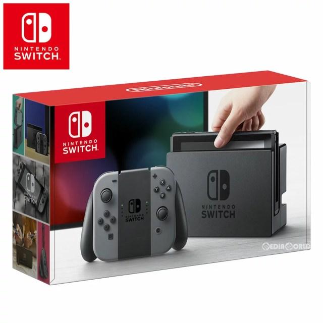 【中古】[本体][Switch]ニンテンドースイッチ Nintendo Switch Joy-Con(L)/(R) グレー(HAC-S-KAAAA)(20170303)【RCP】