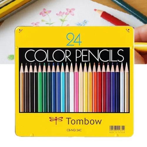 トンボ色鉛筆24色 CB-NQ 24C - 絵具・メール便送料無料