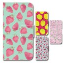 【土日限定★5%OFFとPt5倍】 イチゴ レモン スイカ パターン ピンク グリーン iPhoneSE iPhone……