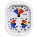 クレセル 家庭用 温・湿度計 不快指数計付 壁掛け・卓上両用 CF-431D