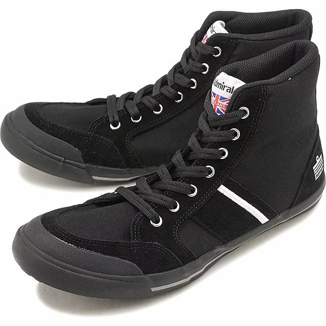 【即納】Admiral アドミラル スニーカー 靴 INOMER HI イノマー ハイ BLACK[