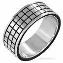 アルディラステンレスリング(SRV178)サイズ/26号 個性的な指輪 黒色 ブラック サージカルステンレス316L メンズ レディース ペアリン..