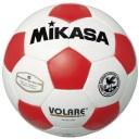 ミカサ MIKASAサッカーボール検定球5号【ネーム加工可】【白×赤】【SVC501-WR】