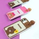 公式ライセンス品 LINE FRIENDS iPhone 12 フィギュア付きLIGHT UP CASE LEDで光る iPhone 12……