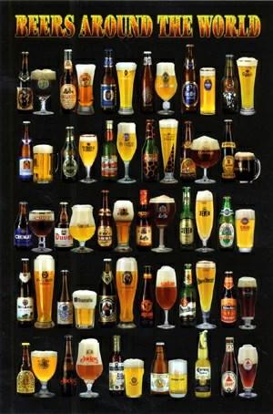 【送料全国一律500円】 世界のビール ポスター