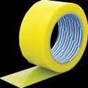 パイオラン(ダイヤテックス) 梱包用テープ イエロー 50mmX25m K-10-YE 50MMX25M