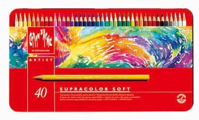CARAND'ACHE SUPRACOLOR SOFT 水溶性 色鉛筆 スプラカラー ソフト 40色セット