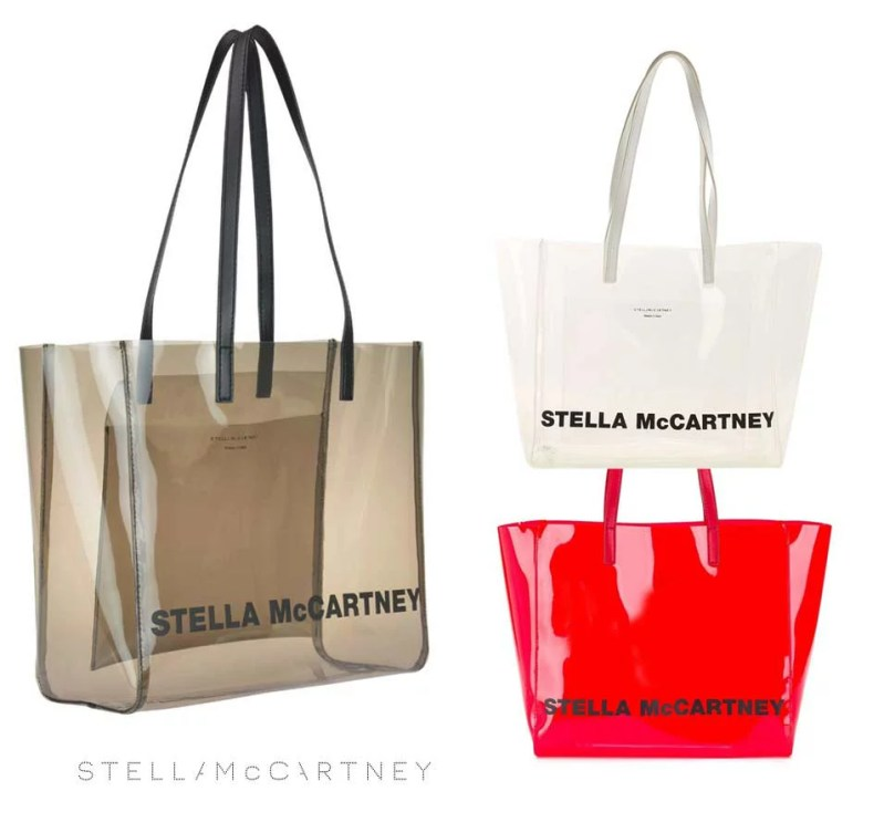 ステラマッカートニー(STELLA McCARTNEY)クリアトートバッグ プールバッグ ブラウン、