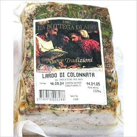 イタリア スローフード協会の推奨品ラルド・ディ・コロンナータ 約640g