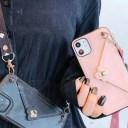 スマホケース iPhoneケース 肩掛け おしゃれ ケース 封筒 スマホケース レザー 首かけ 斜めが……