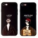 iphone ケース おもしろ LEON 黒 iPhone 5 se 6 7 8 SE(2020) X XR XS XSMax Plus 11 12 pro m……