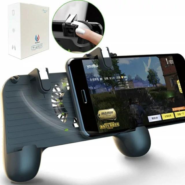 フォートナイトスマホ版 PUBG Mobile 荒野行動 コントローラー Anacend 押しボタン&グリップのセット