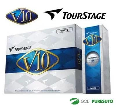 【即納!】ブリヂストン ツアーステージ V10 ゴルフボール 1ダース(12球入)★2012年モデル★ [BRIDGESTONE TOUR STAGE]【あす楽対応】