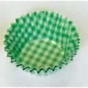 遠藤商事 オーブンケース チェック柄(250枚入) 5号深口 緑 XOC0212