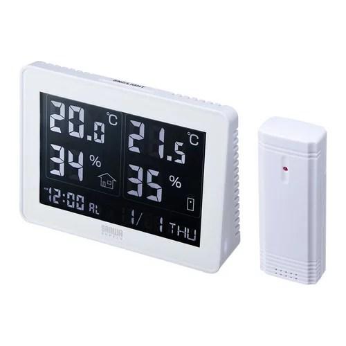 ワイヤレスデジタル温湿度計(受信機付き)[CHE-TPHU4