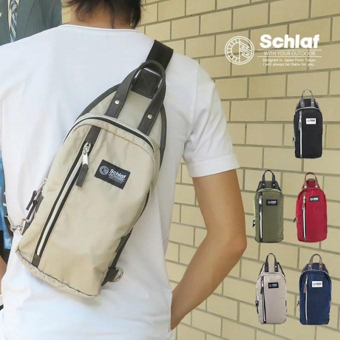 Schlaf-シュラフ-【送料無料】[SCF-019]ナイロン使いボディバッグ ウエストポーチ レデ