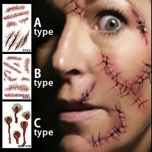 コスプレ用ボディシール 傷口・縫い口