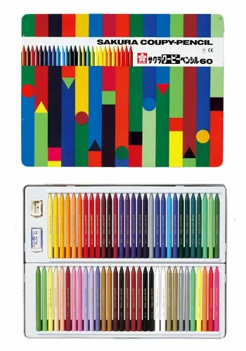 (KC)【在庫あり・】サクラクレパス クーピーペンシル 60色 色鉛筆  FY60