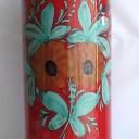 【即納可!!】【送料無料!!】イタリア製 陶器傘立て 丸型 レッド 花柄 おしゃれ オシャレ スリム