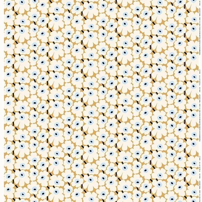 マリメッコ marimekko ファブリック生地 ミニウニッコ (815 ベージュ×オフホワイト×ブルー) 10cm単位カット販売 066475 815 Cotton fabric MINI UNIK