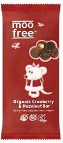 有機クランベリー&ヘーゼルナッツバー Moo Free Organic Cranberry & Hazelnut Bar 100g [並行輸入品]