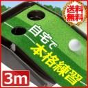 パターマット 練習 30cm × 3m 2ホール ホール幅 8.5cm 6.5cm パター練習 パター練習マット 練習器具 パター練習器具 ゴルフ パターマッ..