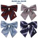 [ネコポス配送可]OLIVE des OLIVE School[オリーブデオリーブスクール] スクールリボン ストライプ&デスリボン