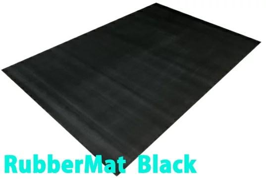 ラバーマット 黒  約2m×1.4m×3mm/トレーニングマット フロアマット[WILD FIT ワイルドフィット]