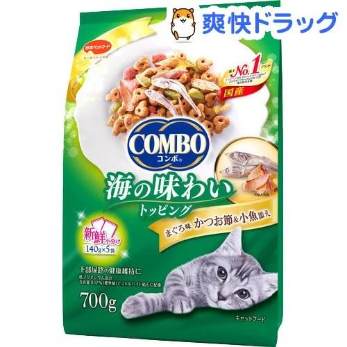 コンボ 猫下部尿路の健康維持 まぐろ味・かつお節・小魚添え(140g*5袋入)【