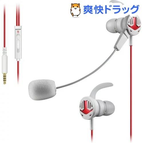 エレコム ゲーミングヘッドセット Switch PS4 マイク 遮音 ホワイト HS-GS30EWH(1セット)